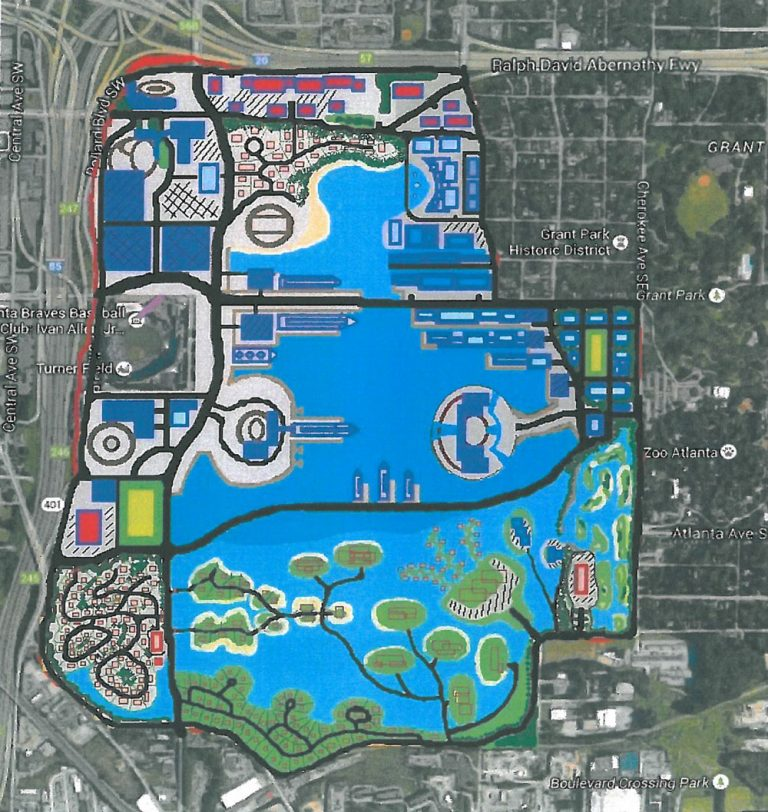 Meet RitaWorld, the lagoon-and-skyscraper vision for Turner Field that could have been