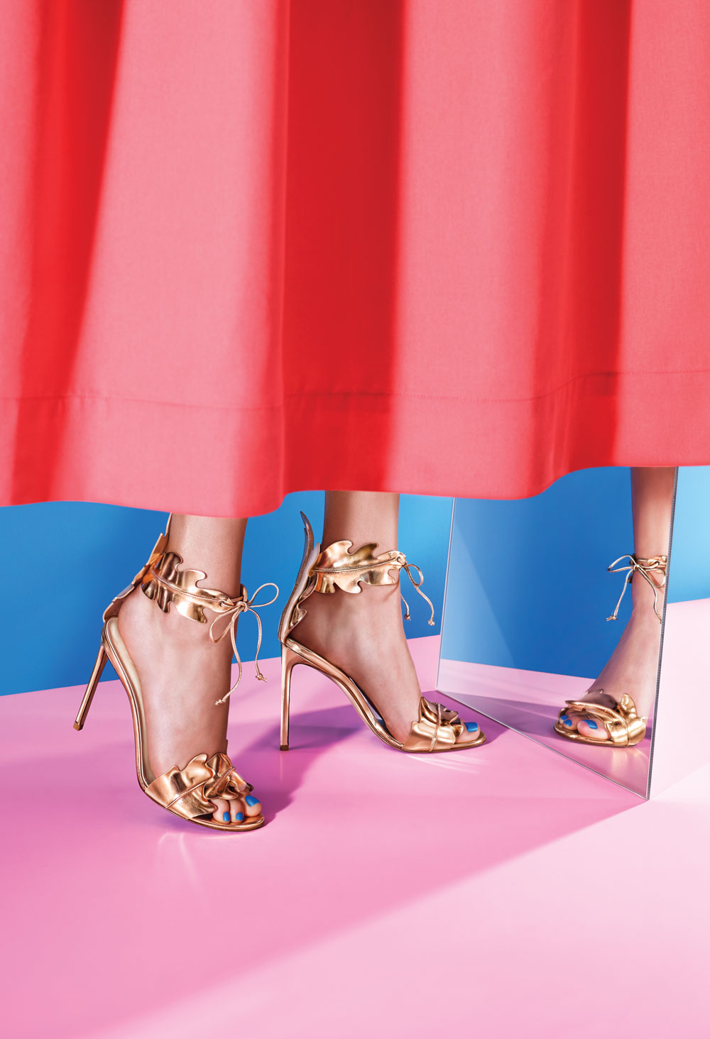 Rose-gold shoes from Jeffrey