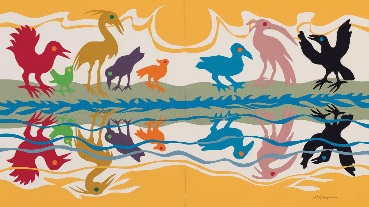 Ashley Bryan color birds