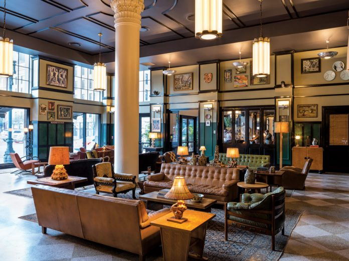 Charmant Lobby. Ace Hotel New Orleans