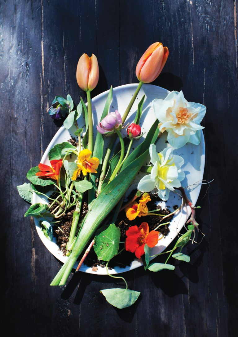 """First it was """"slow food."""" Now restaurants are embracing """"slow flowers."""""""