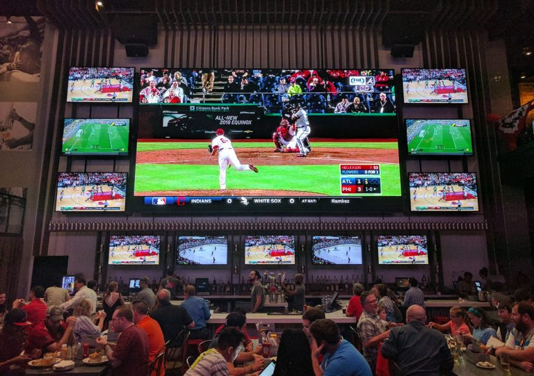 The Battery's Sports & Social has a 30-foot TV so you can see every detail of the Braves game