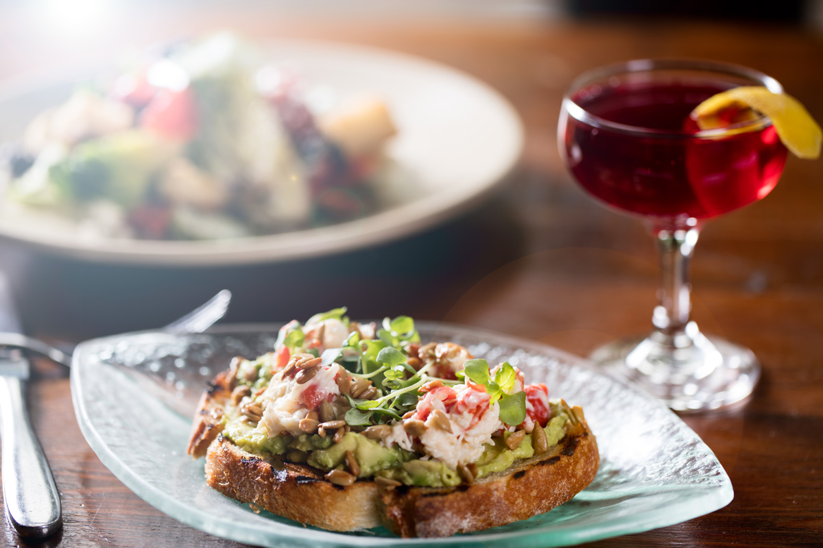 Local Three Kitchen & Bar, Blue Harvest Crab & Avacado Toast