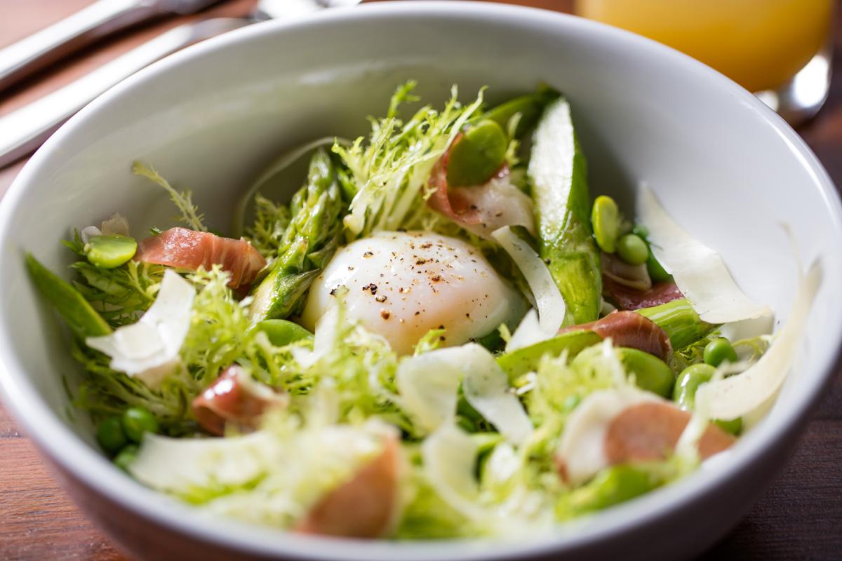 "Local Three Kitchen & Bar, Spring Asparagus Cacio 3-Pepi-O"""
