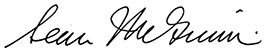 Sean McGinnis signature
