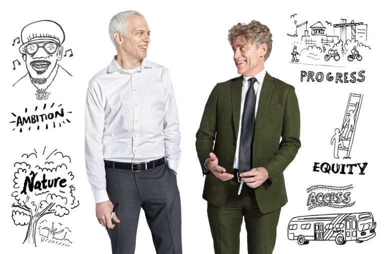 Ryan Gravel and Tim Keane are sketching a smarter city plan for Atlanta