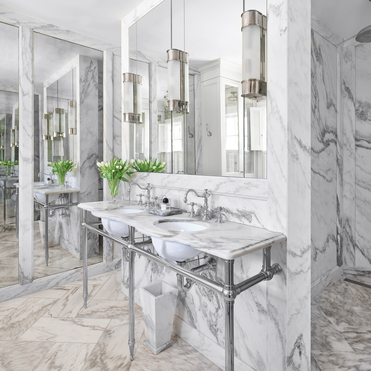 This Gorgeous Master Bath Came From Classic Inspiration