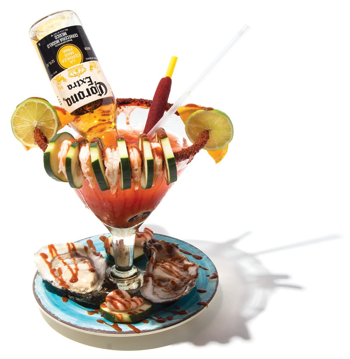 Mariscos El Malecon's seafood cocktail