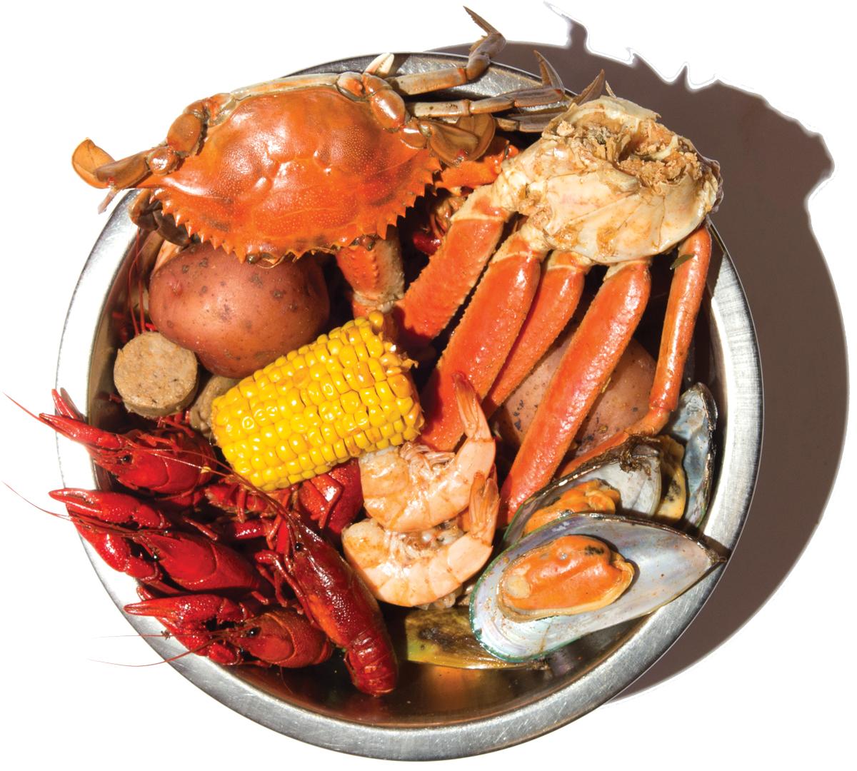 Shack-tastic Platter at Crawfish Shack