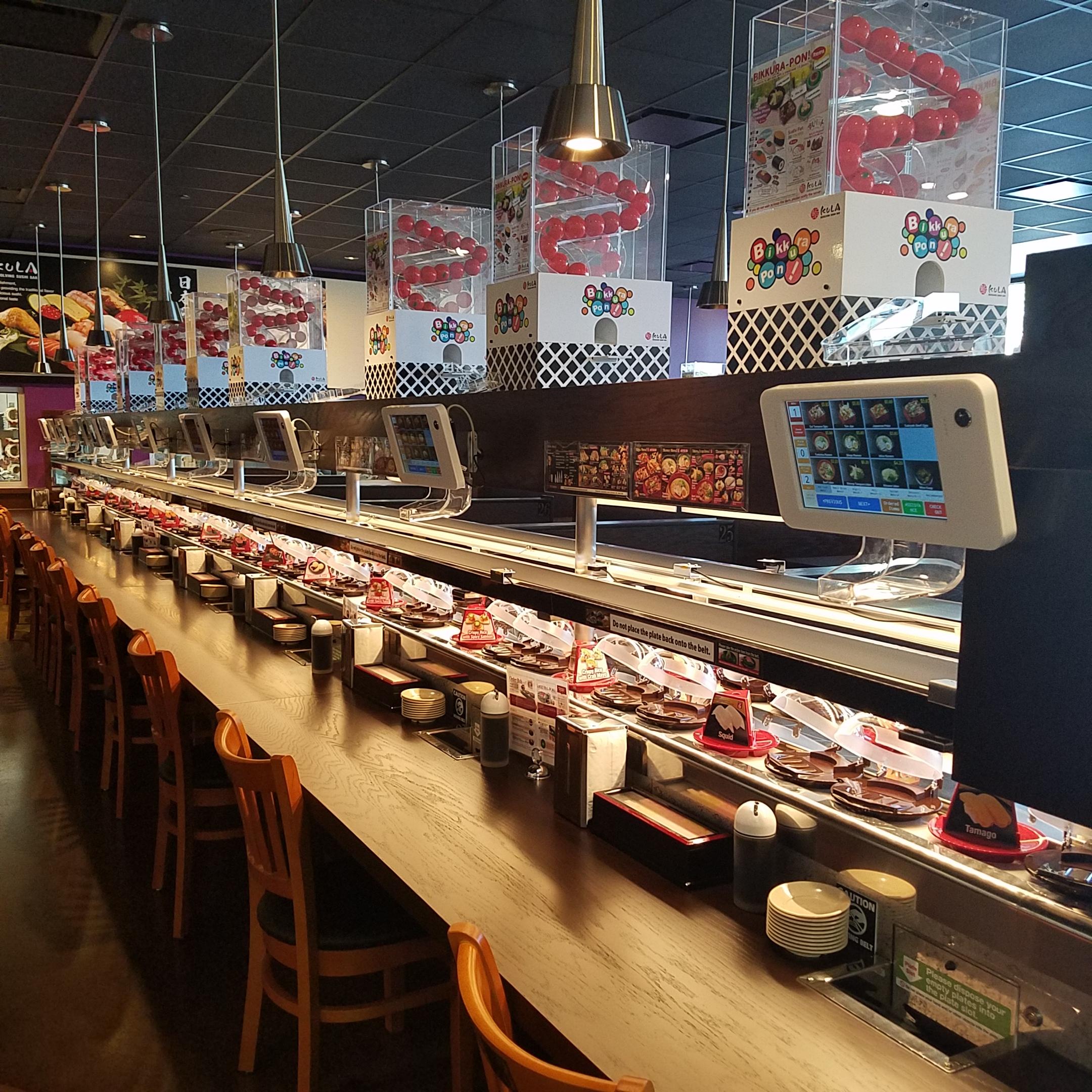 Kula, a new conveyor belt sushi spot, just opened in Doraville
