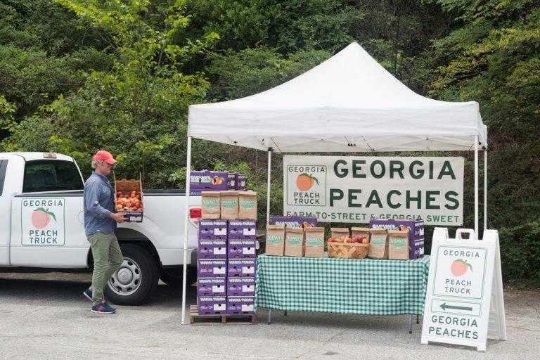 Brandon Smith wants to sell you a fresh Georgia peach