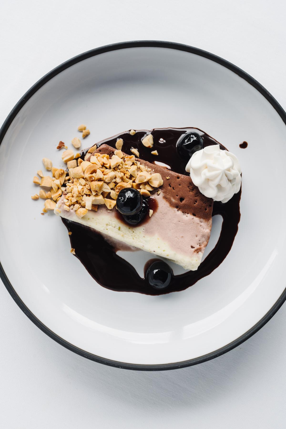 """The Neapolitan ice cream """"sundae"""" at C. Ellet's steakhouse"""