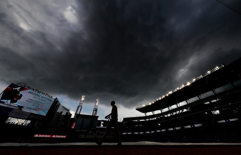 Why so many Atlanta Braves rain delays? Science could explain.
