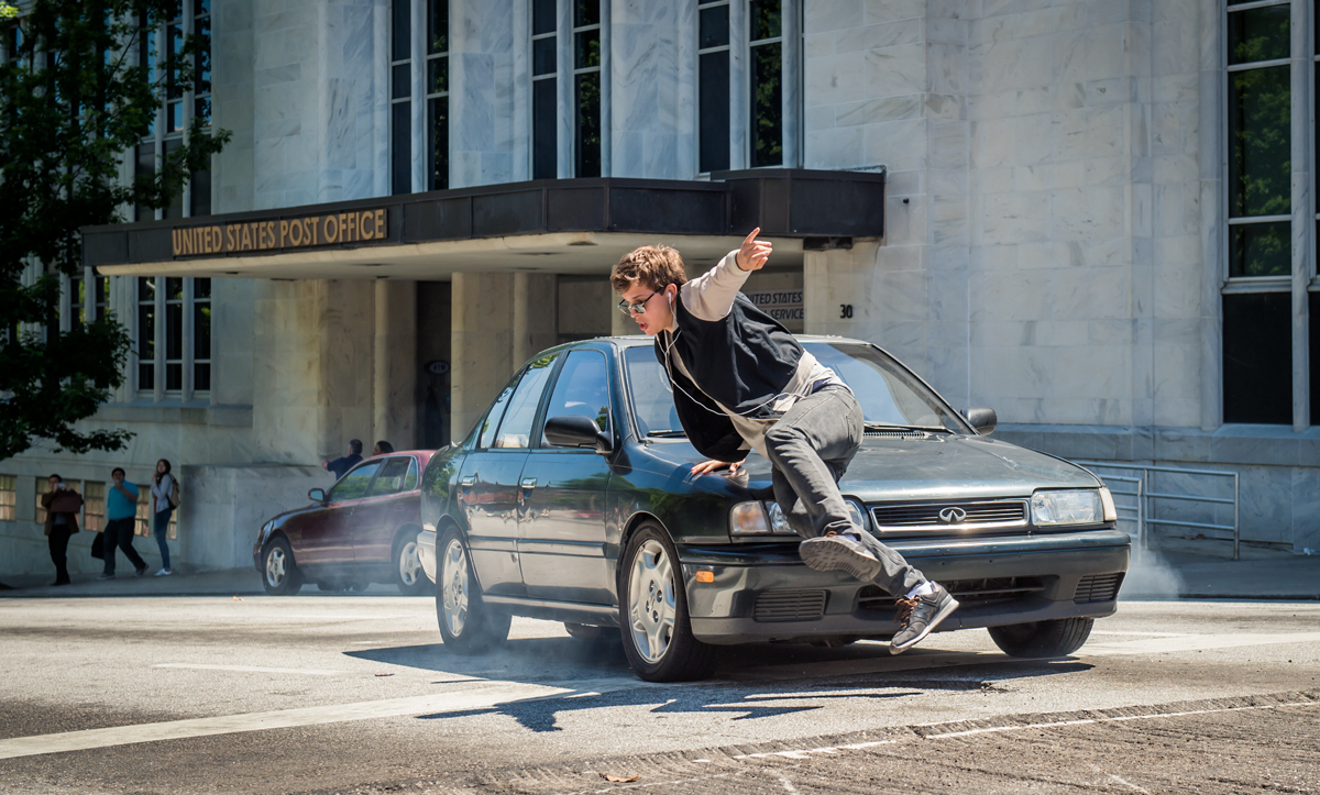 Baby Driver filming locations map