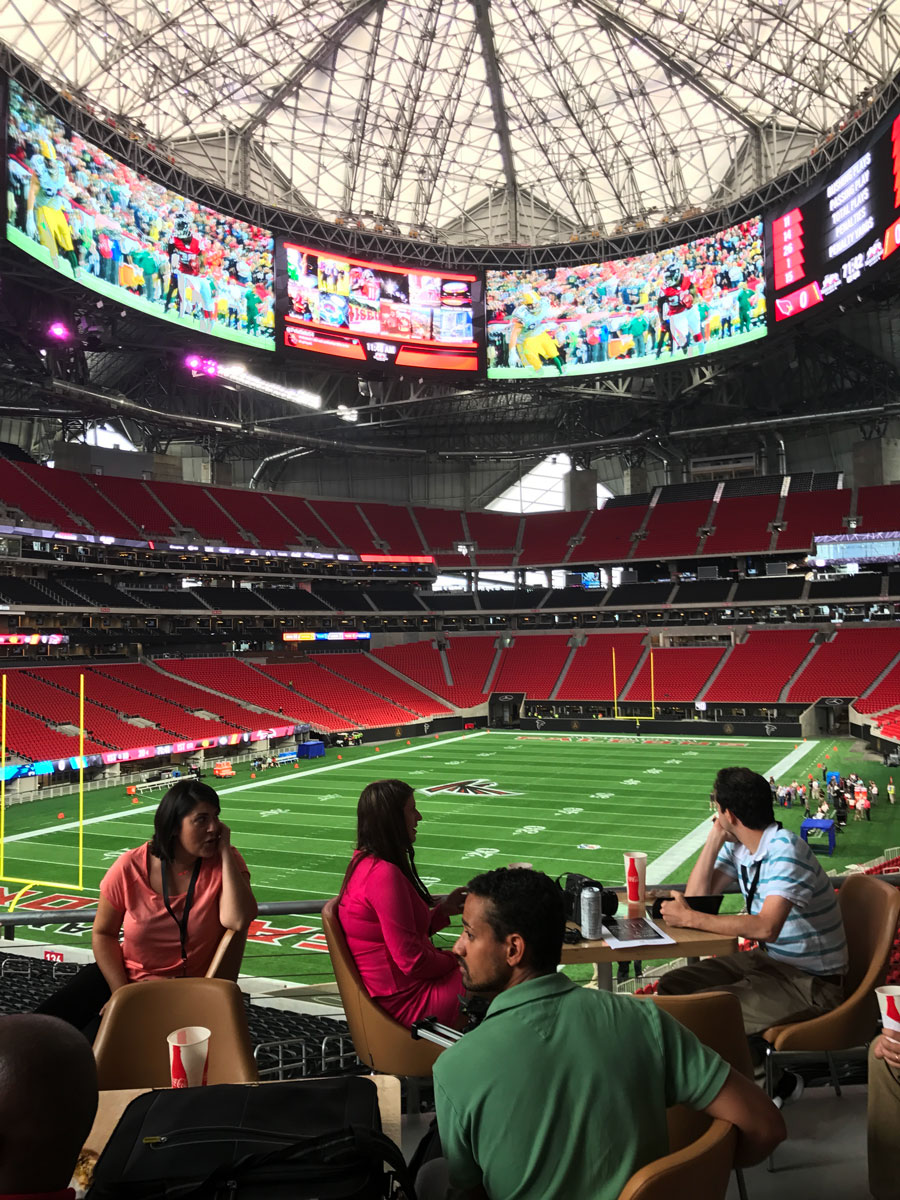Days Away From Opening Here S What Mercedes Benz Stadium Looks Like