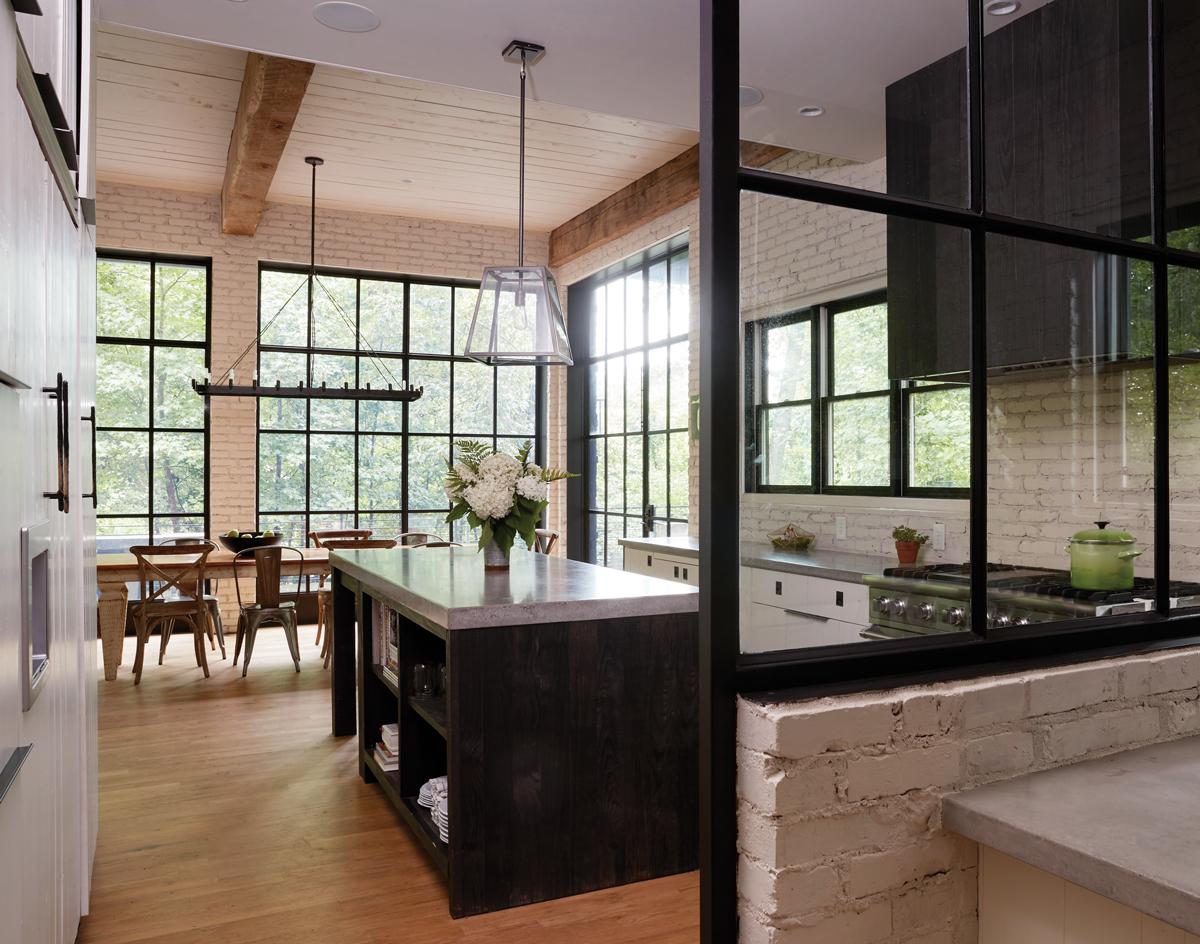 Get the look modern farmhouse kitchen atlanta magazine - Modern farmhouse kitchen cabinets ...