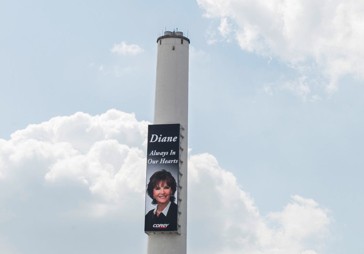 Diane McIver on the Corey Tower