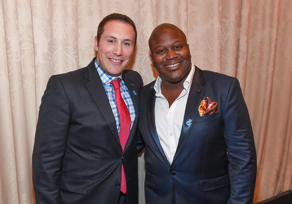 Mike Carlson and Tituss Burgess at the GLAAD Atlanta Gala