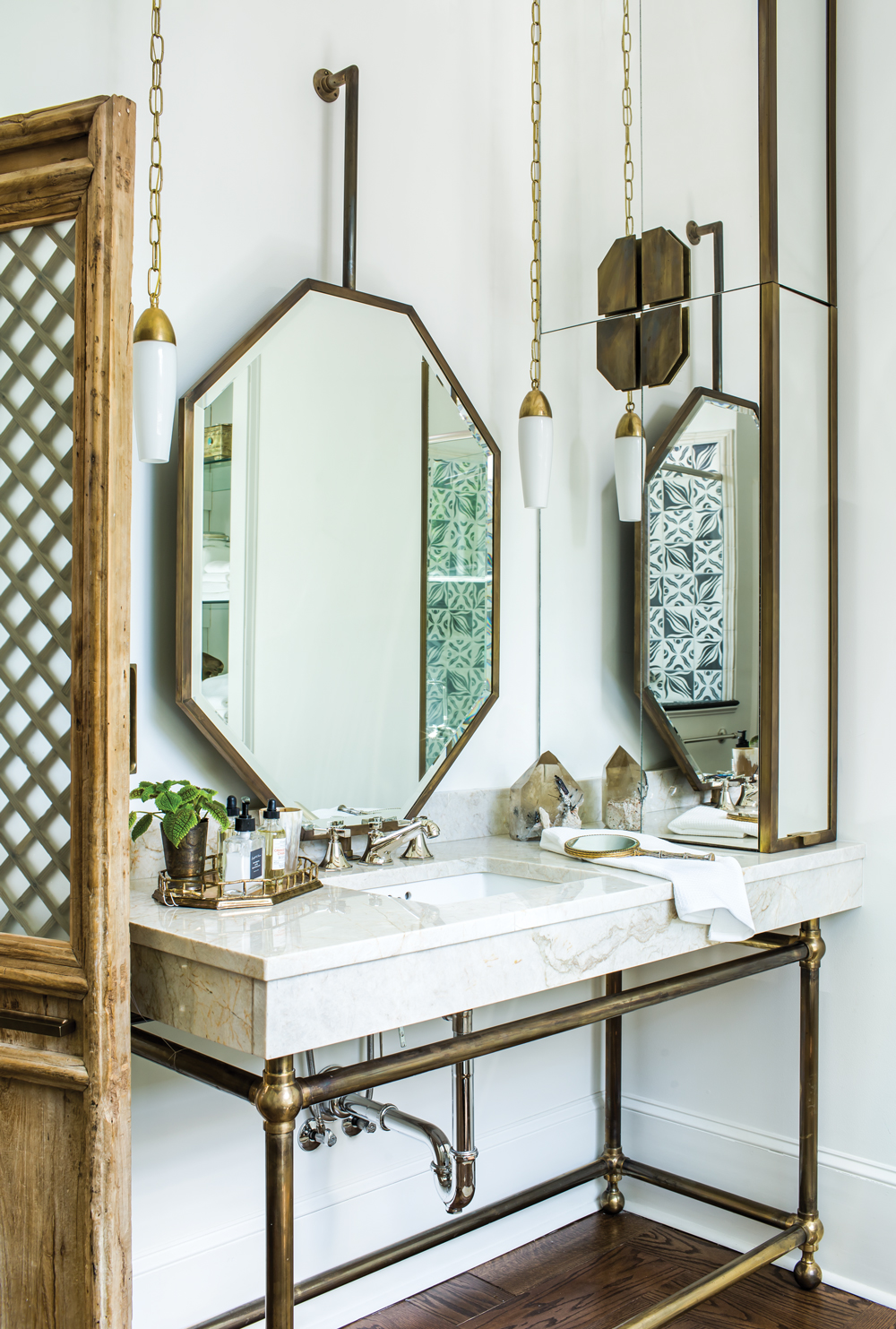 This bohemian bathroom is the perfect, cozy retreat - Atlanta Magazine