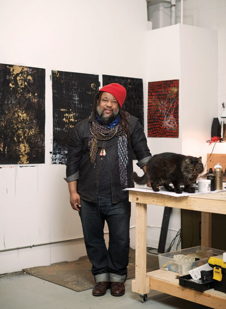 "Atlanta artist Michi Meko's work is ""the contemporary experience of black life and survival"""