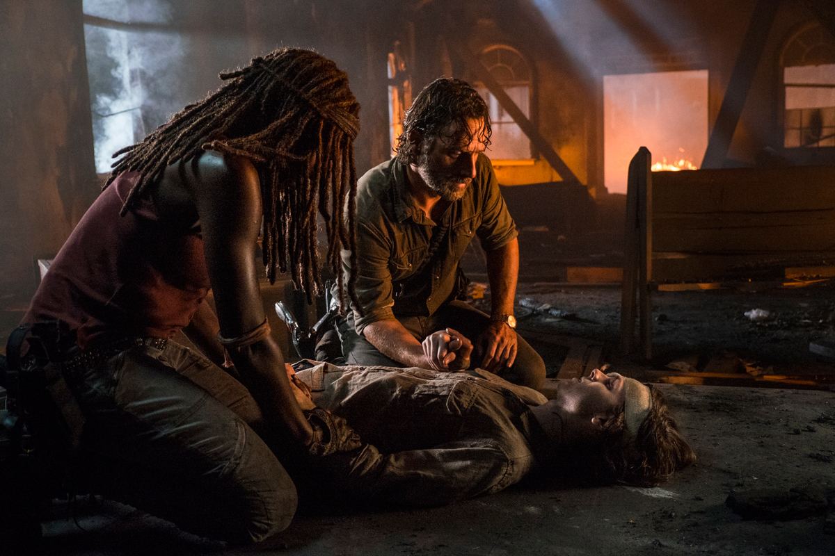 The Walking Dead 809 Carl dies