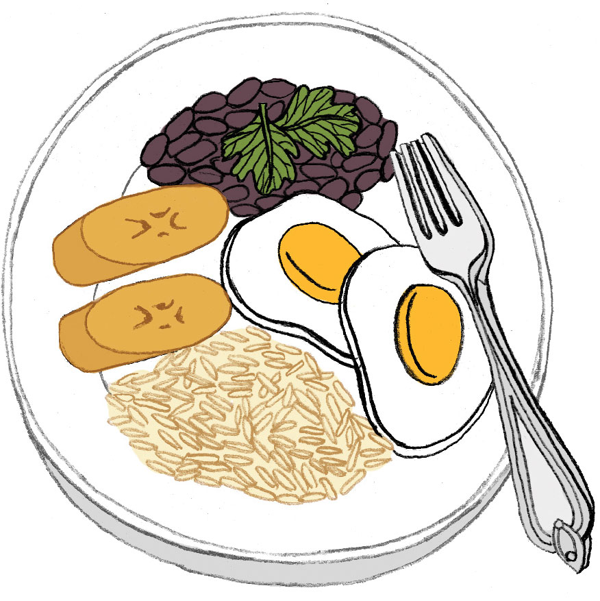 Rice and Beans at Xela Pan