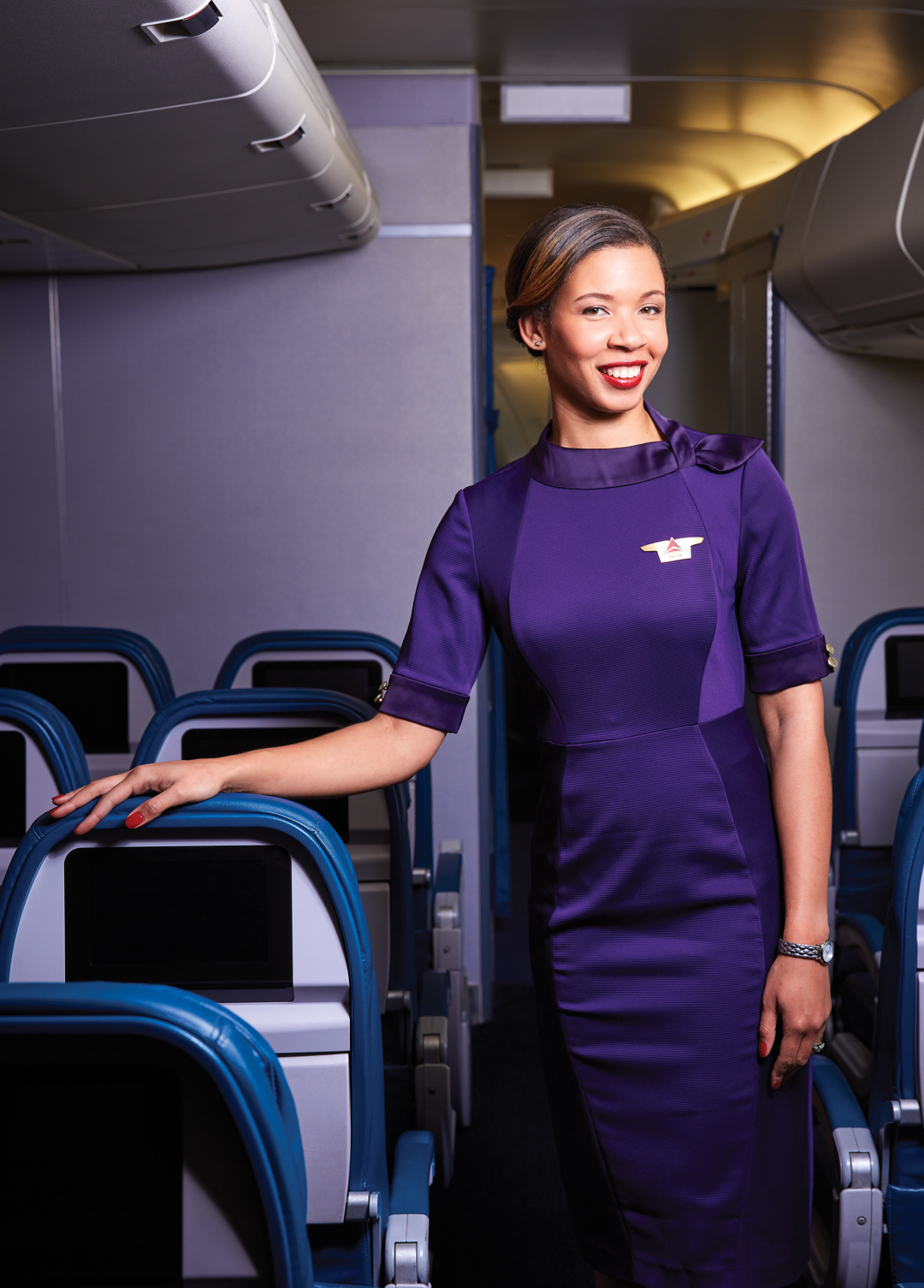 Flight Fashion As Delta S New Purple Uniforms Take Off A Look
