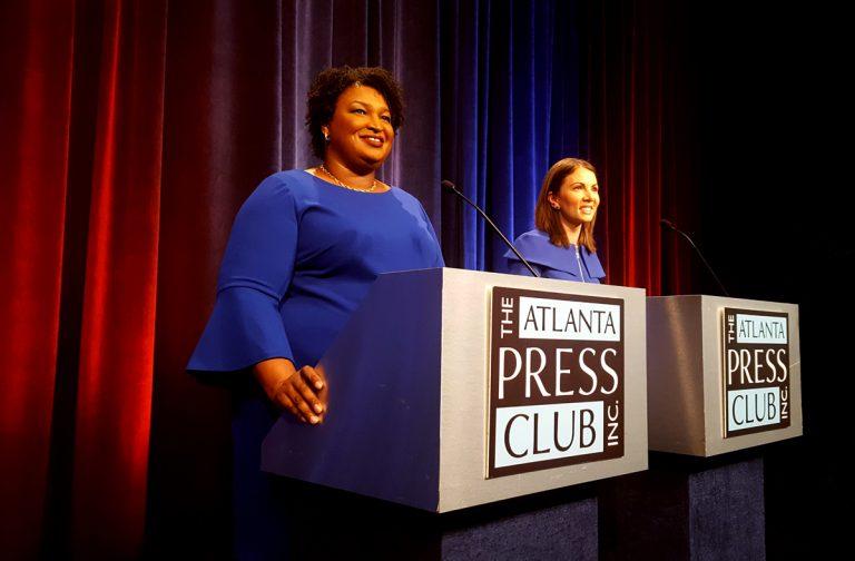 Democrats Abrams and Evans spar in televised debate on HOPE scholarship, political endorsements