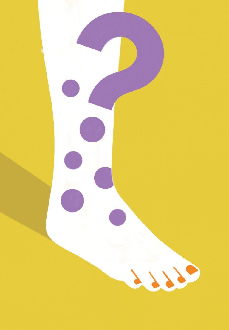 Medical Mystery: The case of the painful purple spots