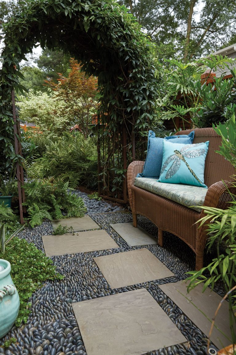 These 3 Atlanta backyards are oases with lush plantings, meandering paths, and artful touches
