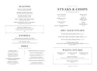 Double Eagle Steakhouse Atlanta Menu