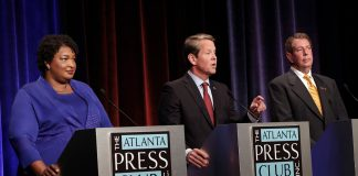 Stacey Abrams Brian Kemp Ted Metz Georgia Governor Debate Atlanta Press Club Election 2018