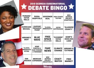 Georgia Governor Debate Bingo Atlanta Magazine