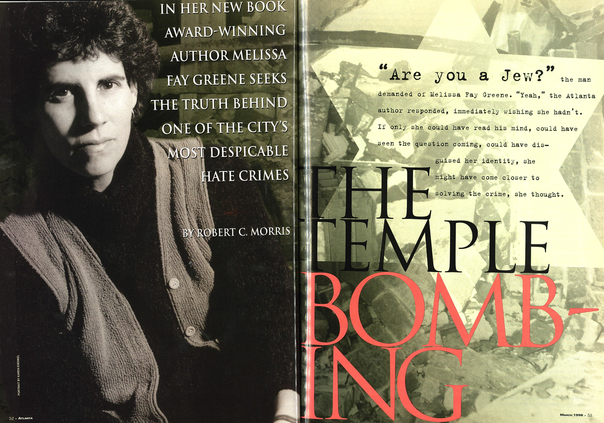 The Temple Bombing Melissa Fay Greene 1996