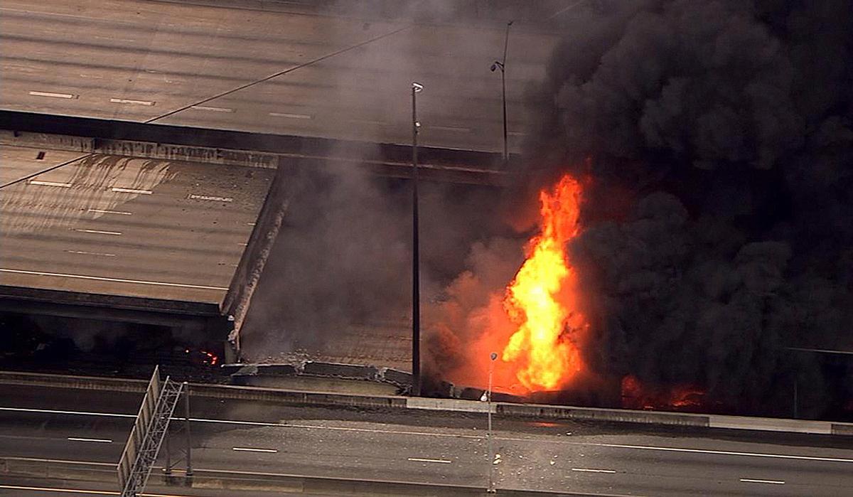 Basil Eleby, I-85 fire