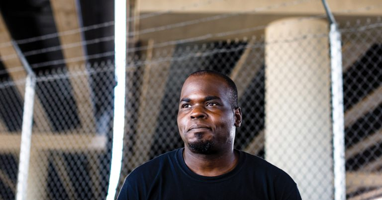 The I-85 fire could have destroyed Basil Eleby's life. Instead, it may have saved it.