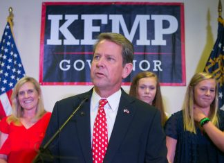 Brian Kemp Secretary of State Elections Board Chair Election Governor 2018