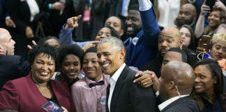 Stacey Abrams Barack Obama Morehouse Atlanta rally election 2018