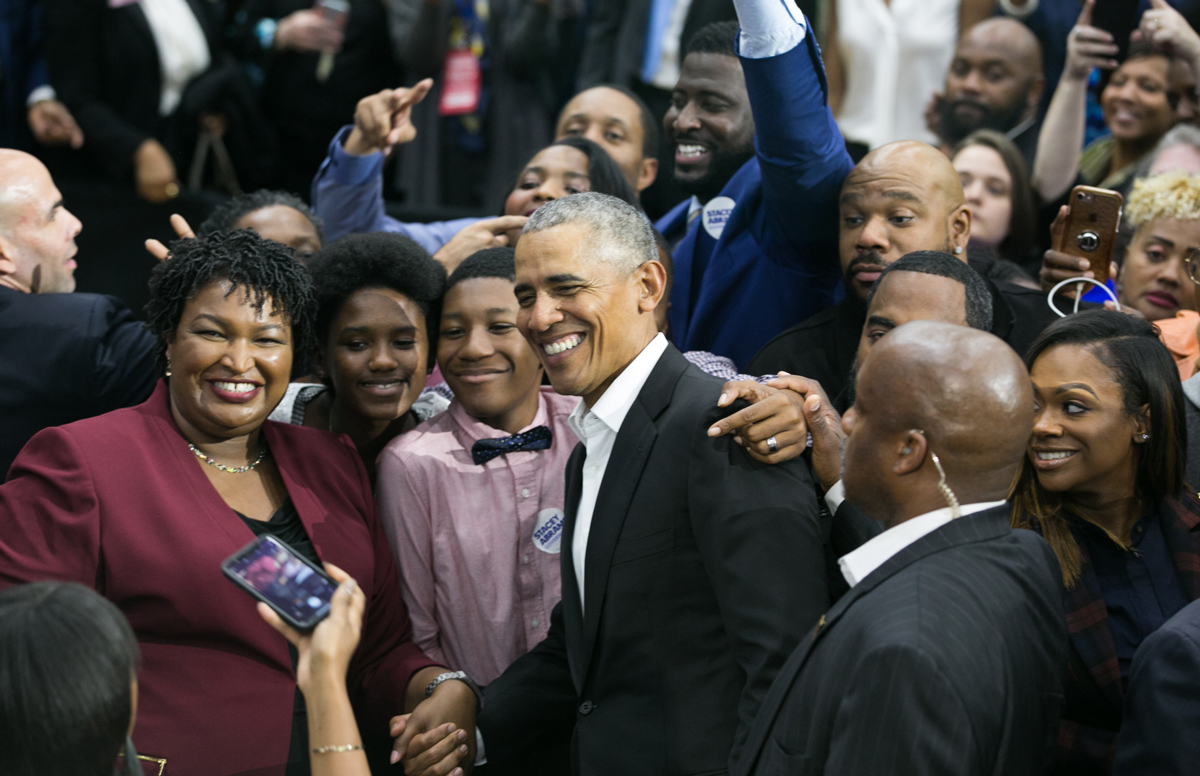 Stacey Abrams Barack Obama Morehouse Atlanta rally election 2018