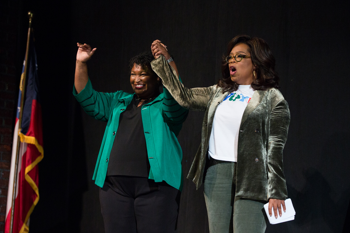 Oprah Winfrey Stacey Abrams Atlanta Election 2018