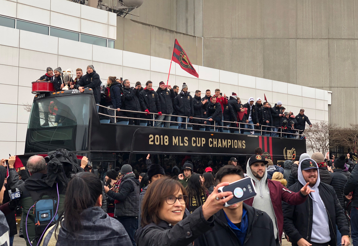 Scenes from the Atlanta United MLS Cup victory parade