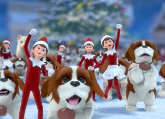 Elf on the Shelf Santa's St. Bernards Save Christmas