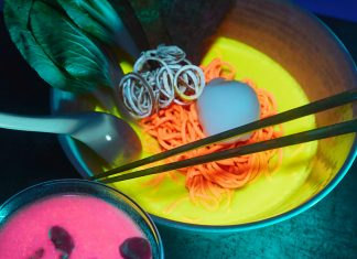 Nakamura.ke Atlanta glow in the dark ramen pop-up