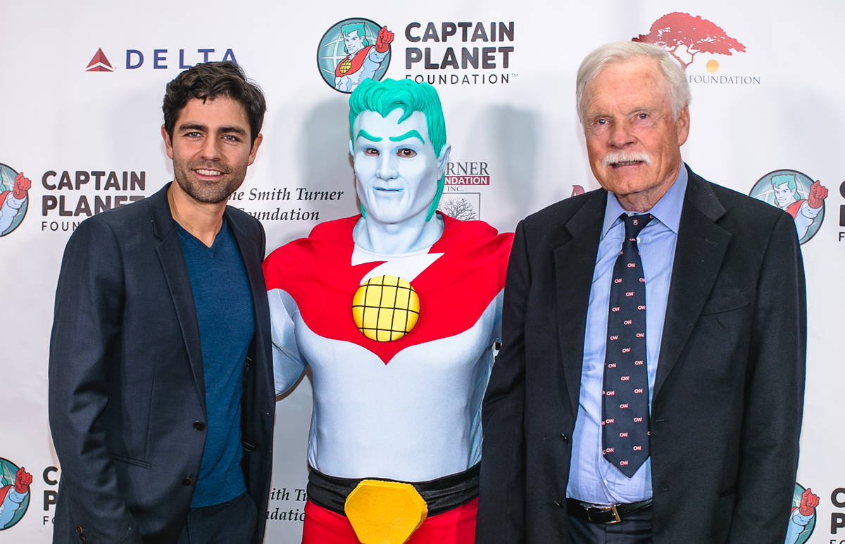 Adrian Grenier Ted Turner Captain Planet Foundation Gala