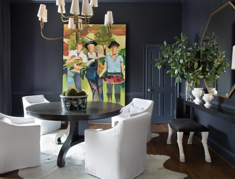 How a pair of designers added drama to this Southern suburban home