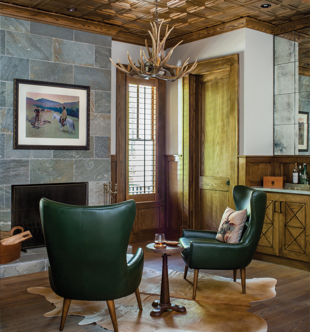 Room Envy: This den has a Western lodge vibe and a built-in bar