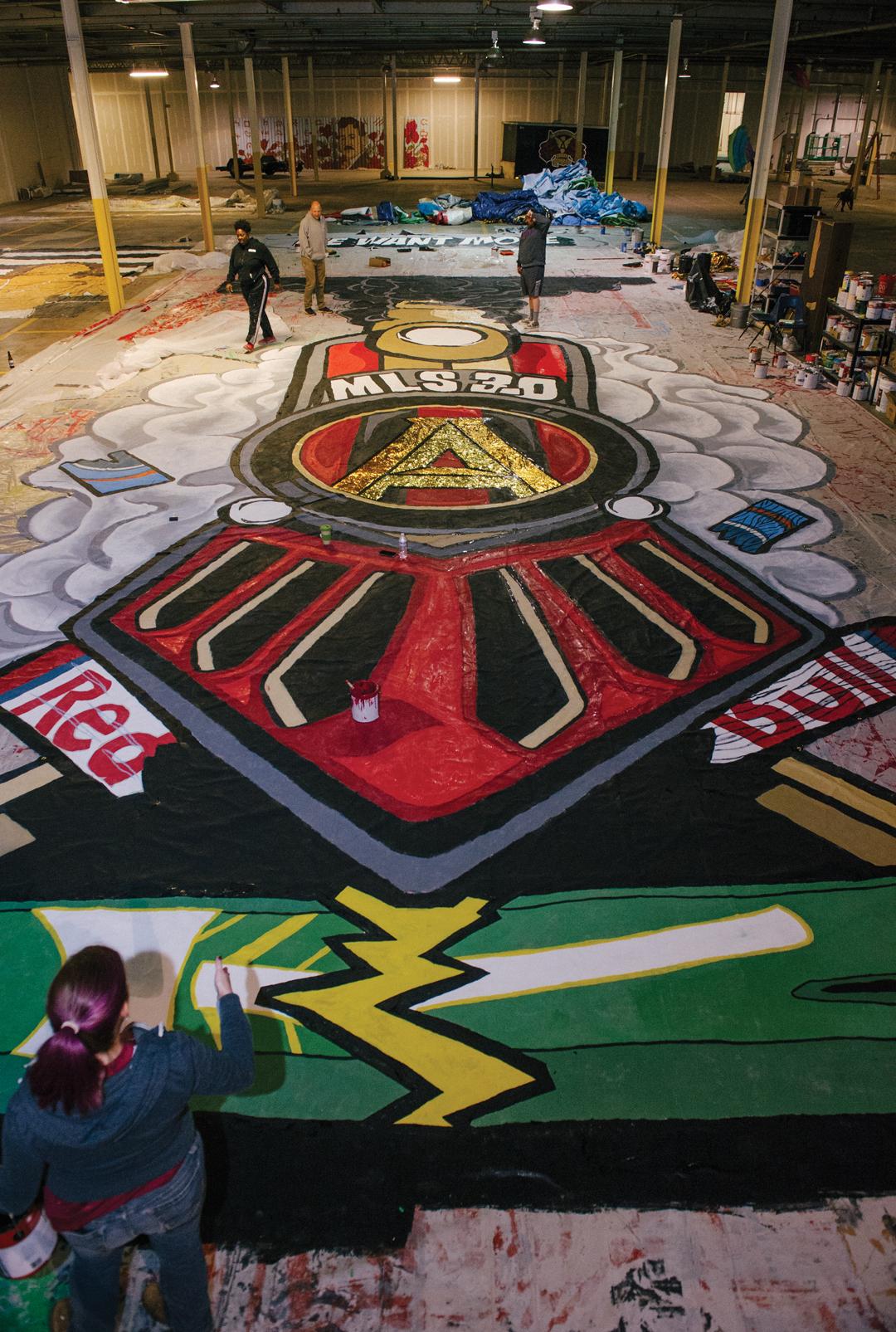 Atlanta United tifos