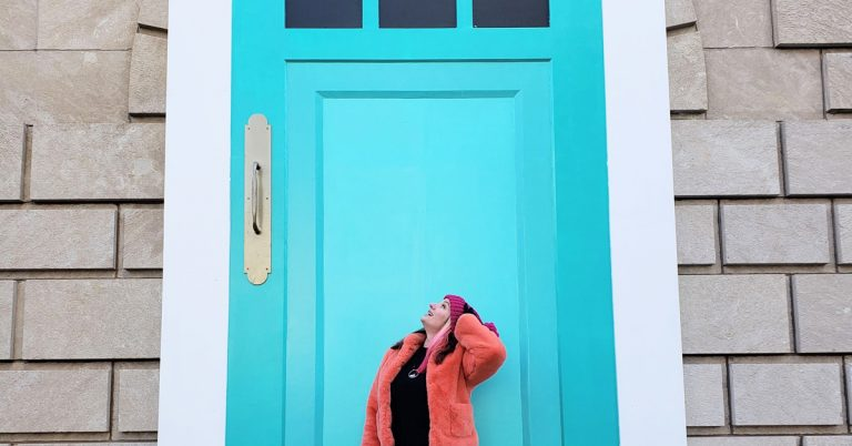 "In honor of the Super Bowl: Tiny Doors ATL's first ""not-so-tiny"" door"