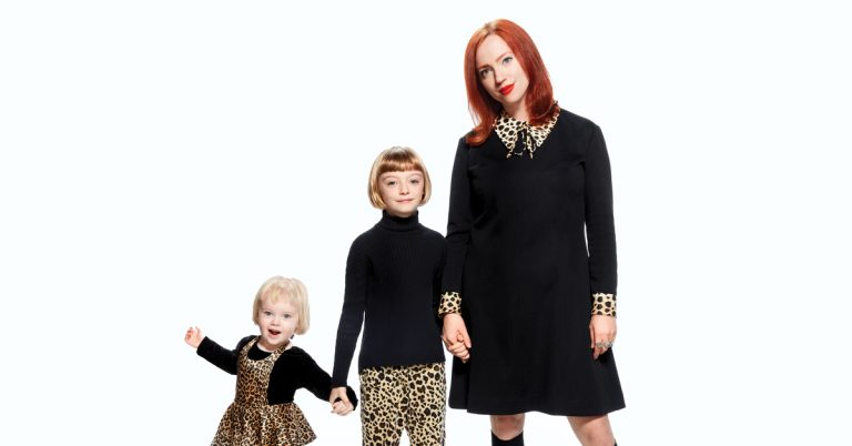 Karla Davis and her daughters love to wear matching retro styles