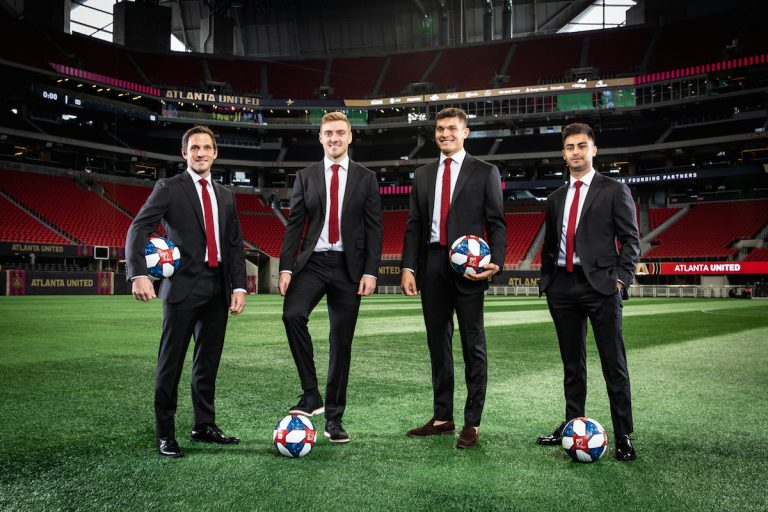 Atlanta United debuts sharp new suits from the city's latest menswear shop